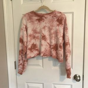 forever 21 tie dye long sleeve crew neck